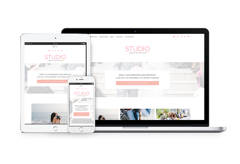 Studio - A WordPress theme for photographers + designers by Coded Creative